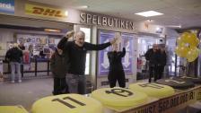 Eurojackpot - svenska rekordvinsten firas med tårta