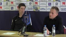 Presskonferensen efter 1-1 i Uppsala