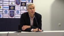Presskonferensen efter GAIS - Hammarby