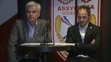 Presskonferensen efter Assyriska - Hammarby
