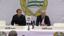 Presskonferensen efter derbysegern över AIK