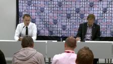 Presskonferensen efter IFK Göteborg-DIF 2011