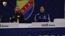 Presskonferensen efter Djurgården Frej
