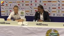 Presskonferensen efter derbysegern mot Hammarby