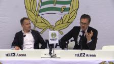 Presskonferensen efter Hammarby - AIK