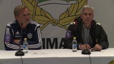 Presskonferensen efter Hammarby - IFK Värnamo