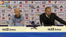Presskonferensen efter DIF-Elfsborg