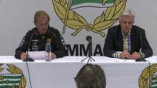 Presskonferensen efter Hammarby - GAIS