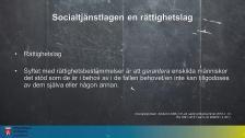 Juridik i socialt arbete