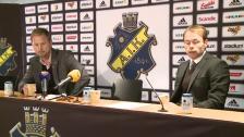 Presskonferensen efter AIK-DIF 2011