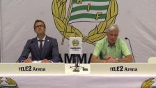 Presskonferensen efter förlusten mot AIK