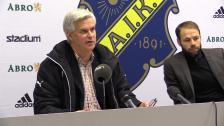 Presskonferensen efter derbysegern