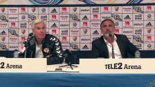 Presskonferensen efter segern mot Kalmar