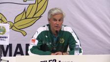 Presskonferensen efter Hammarbys 2-1-seger över Gefle