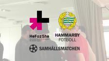 Hammarbys ambassadörskap för HeForShe fortsätter
