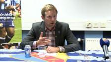 Presskonferensen efter DIF-Häcken 2011