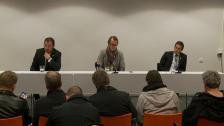 Presskonferensen efter GAIS-DIF 2011