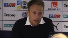 Presskonferensen efter Bajens bortaseger mot Örebro