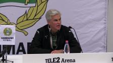 Svenska Cupen: Presskonferensen efter Hammarby - Syrianska