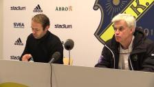 Presskonferensen efter AIK - Hammarby