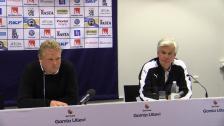 Presskonferensen efter 2-1-förlusten i Göteborg