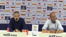 Se presskonferensen efter segern mot Sundsvall