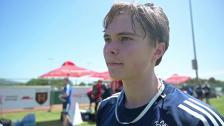 Linus Tagesson trivs på lägret