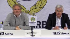 Presskonferensen efter Hammarby - IFK Göteborg